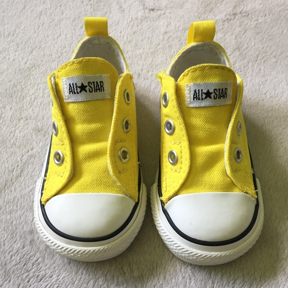 63adf7d3f7d9eb Converse Other - Converse All Star no tie yellow infant sneakers 4